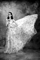 Wedding dress Black White